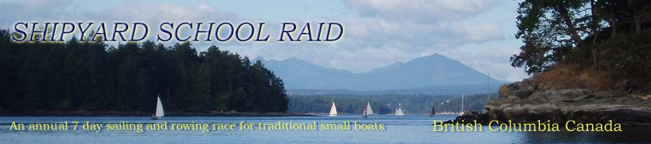 Raid fleet sailing through Gabriola Pass